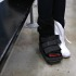 Sophomore Hannah Faubion broke her foot during a practice and now has to wear a boot.