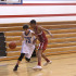 Freshman Brock Cantu dribbles past a Rouse freshman at a game.
