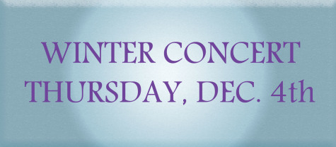 Winter Choir Concert to be held in PAC