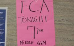 FCA meetings in Middle Gym