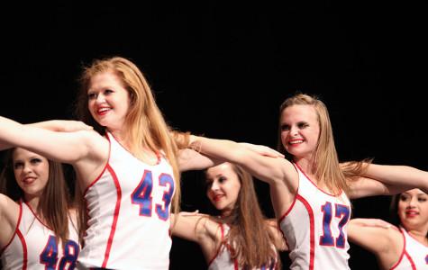 Blue Belles dance at NBA game