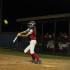 Junior Shannon Dodd hitting the ball.