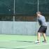 Senior Alper Orkun preparing to hit the ball.