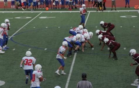 Freshman teams fumble during first game
