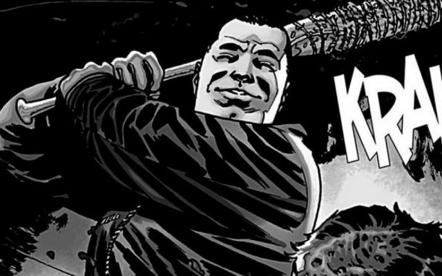 Negan%27s+most+memorable+moment+in+the+comics.+This+was+at+the+point+in+the+comics+when+a+big+character+was+batted.