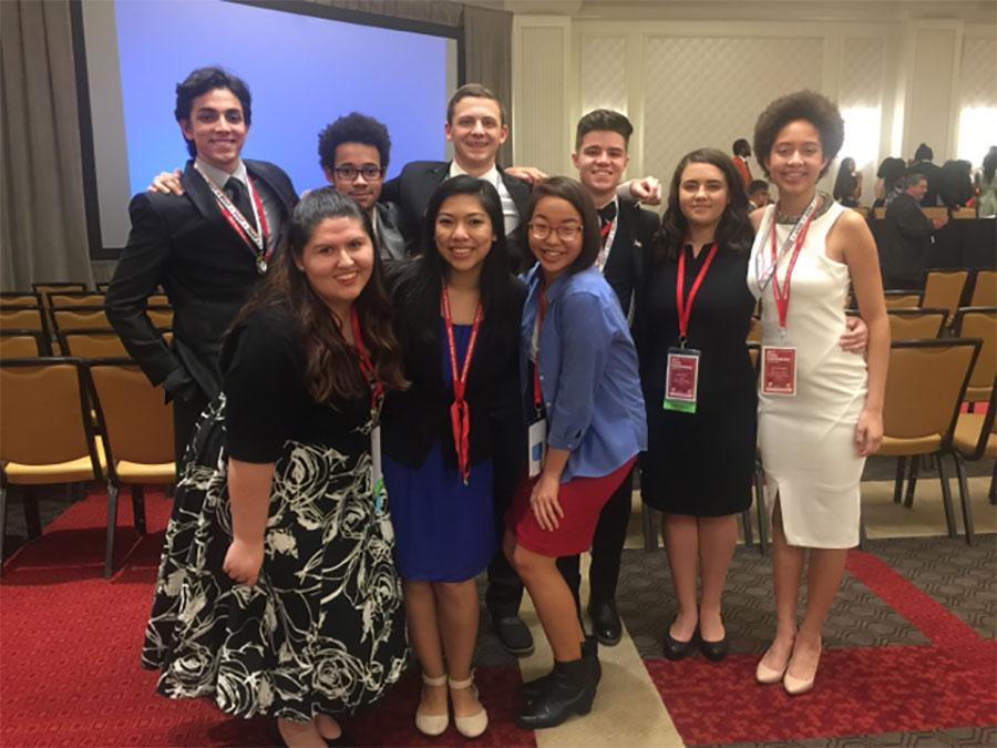 All of the Leander delegates after the award ceremony. Five students placed as Distinguished Delegates.
