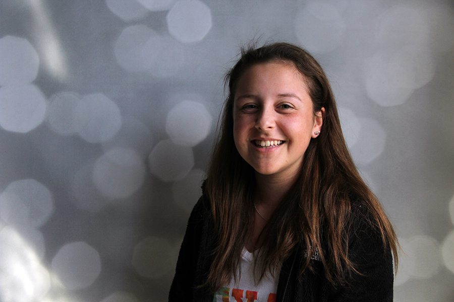 Freshman+Emily+Castillo+participates+in+theatre+and+plays+tennis.++She+was+diagnosed+with+Leukemia+when+she+was+three+years+old%2C+but+is+healthy+and+happy+now.
