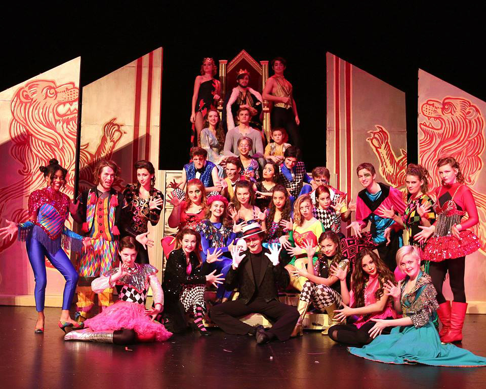 The cast of this years musical, 'Pippin', performed at the 4th annual GAHSMTA awards. Their featured number was 'Magic To Do', which opened Act Two of the award ceremony.