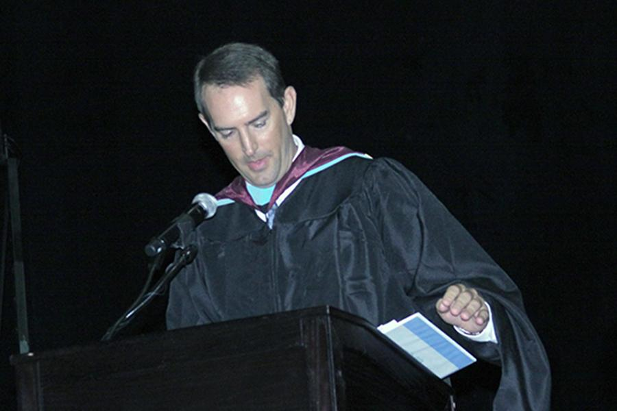 Principal Brad Mansfield will oversee his final graduation ceremony this year.