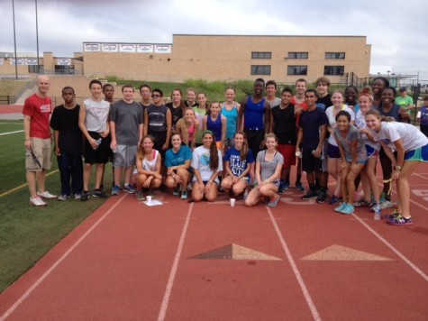 The 2014 Cross Country team participated in the Run-a-Thon to kick off their season.