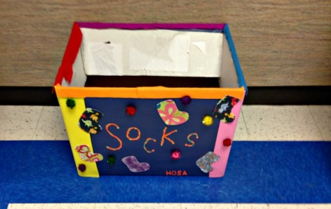 HOSA sock drop off box