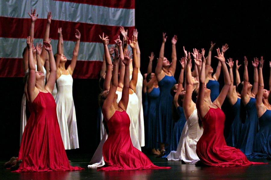The+Blue+Belles+perform+God+Bless+the+USA