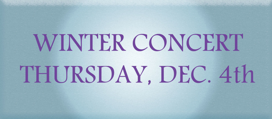 The concert will start at 7 p.m. in the PAC.