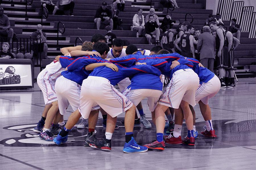 The Varsity Basketball Boys before their game against Liberty Hill