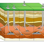 Diagram explaining fracking.