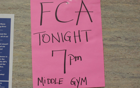 FCA meetings in Middle Gym