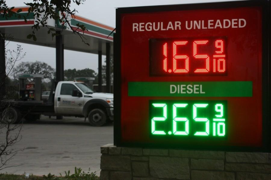 Gas prices down to $1.65.