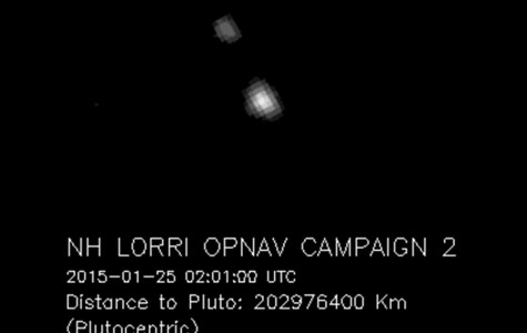 One of the shots from New Horizons as it approaches Pluto.