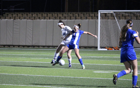 Lady Lions played in a tough defensive battle against Marble Falls.