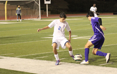 Junior Dallas Sullivan intercepts the ball from Marble Falls.