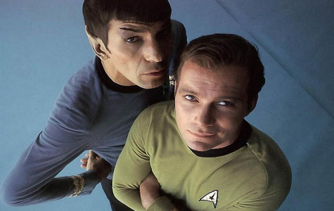 Leonard Nimoy (left) and William Shatner (right) were great friends. Shatner played the character Captain Kirk and Spock was his first officer.