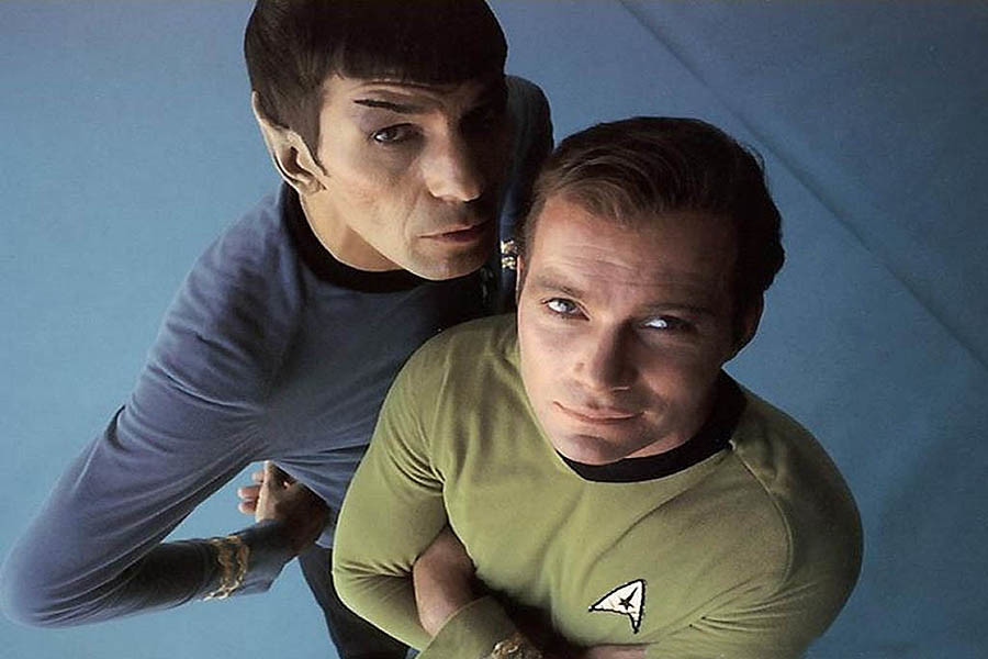 Leonard+Nimoy+%28left%29+and+William+Shatner+%28right%29+were+great+friends.+Shatner+played+the+character+Captain+Kirk+and+Spock+was+his+first+officer.