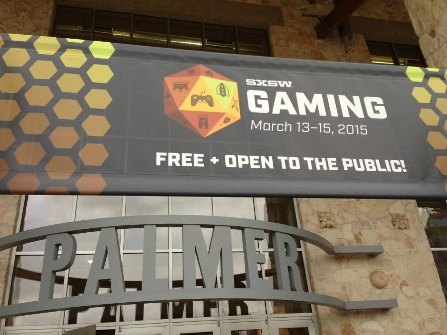 The entrance to the gaming expo at SXSW