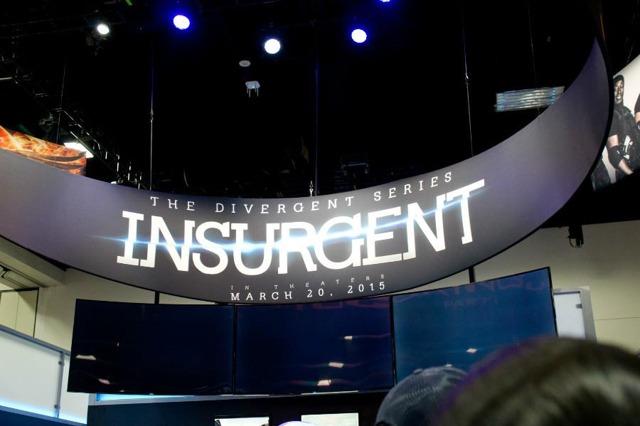 A banner showcasing the new movie, Insurgent.