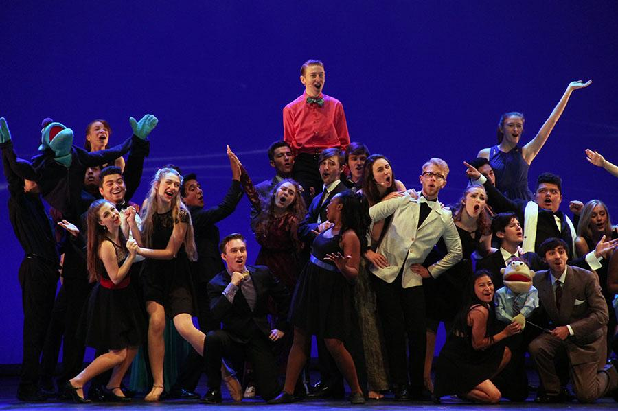 A photo of students in last year's select ensemble for GAHSMTA. This is a small taste of the award show.