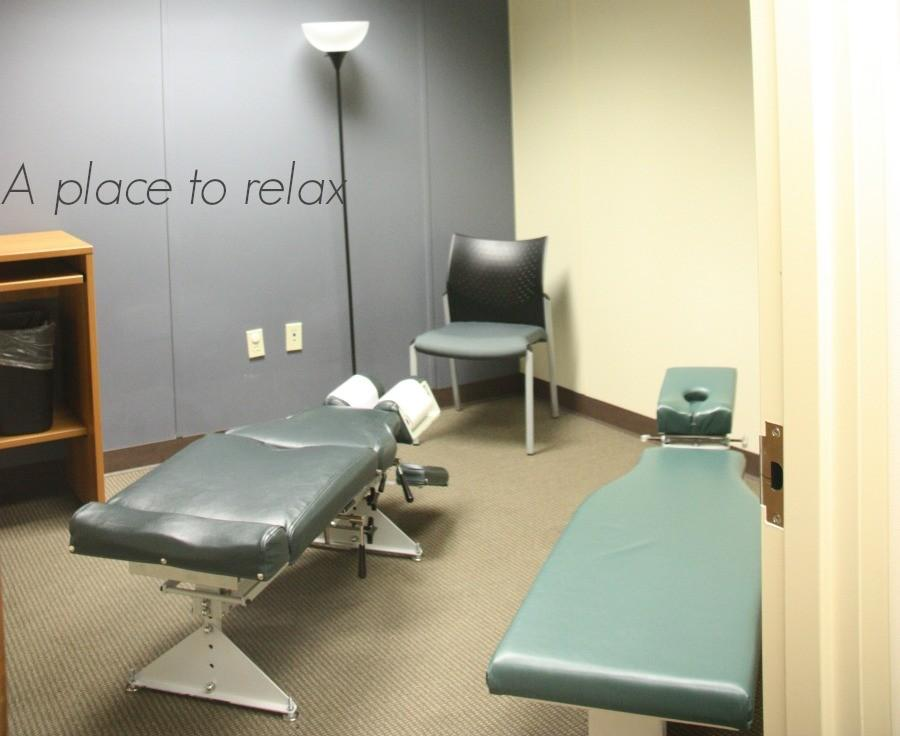 A chiropractic chair used for spinal manipulation and other techniques