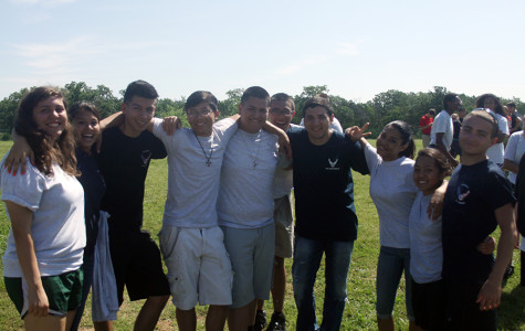 A group of students from ROTC after field trip.