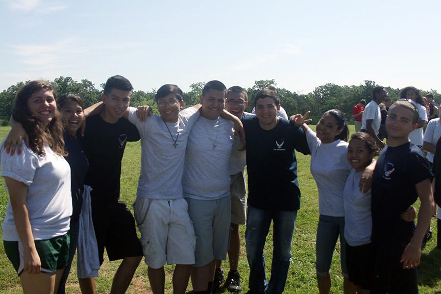 A+group+of+students+from+ROTC+after+field+trip.