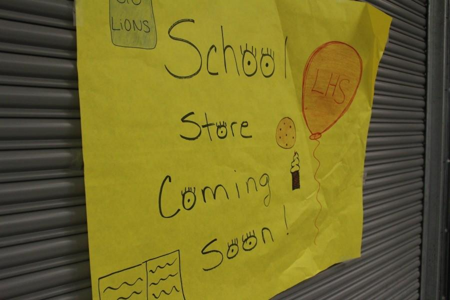 A+poster+advertising+the+school+store