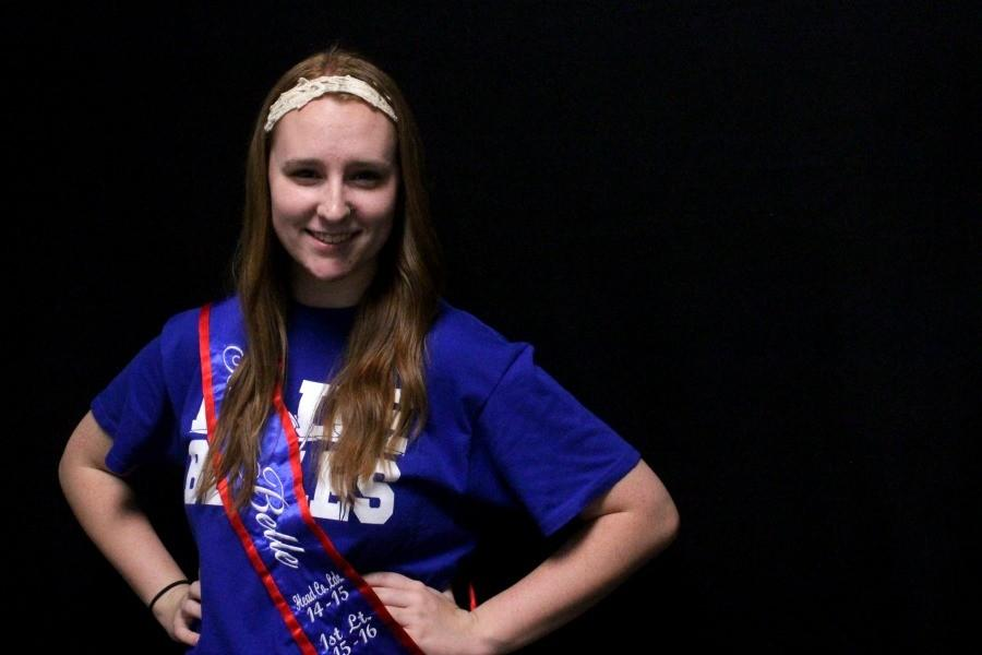 Hoelscher and the other Blue Belle leaders for 2015-16 wore their leader sashes to school