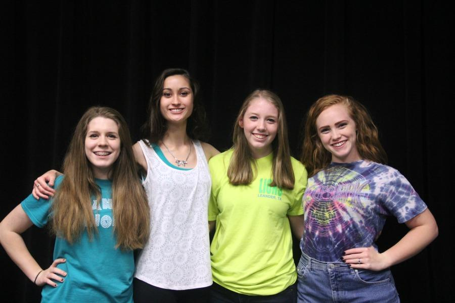 Next years elected all female officers for Troupe 5232 minus the treasurer. Pictured from left to right are: sophomore Lydia Singleton and juniors Annika Lowe, Emilee Earthman and  Lynley Eilers.