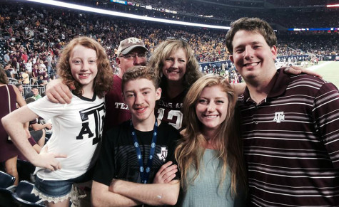 The Costarell family spending quality time together. They were at the A&M vs. Arizona State game.