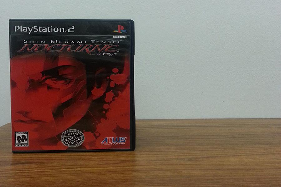 The box art for Nocturne. The game is rated M for blood, intense violence, language, and sexual themes.