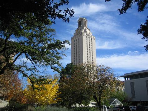 The University of Texas Tower in downtown Austin. This tower, and the area around it, was the area that Charles Whitman opened fire upon 49 years ago.