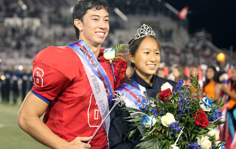 Homecoming King Matthew Long and queen Lilian Pham. Both were voted king and queen by their peers.