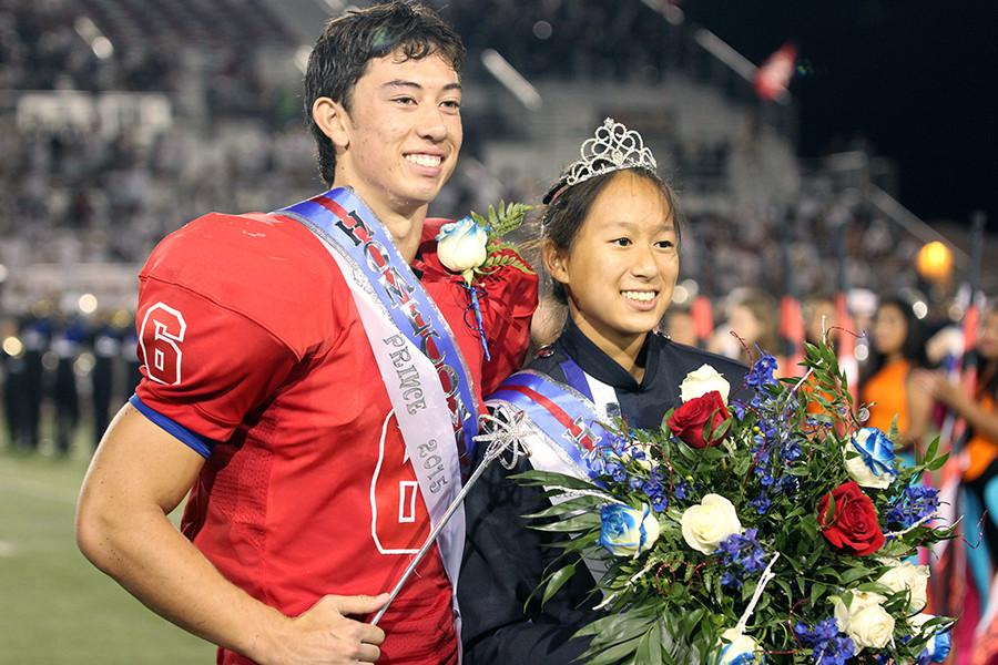 Homecoming+King+Matthew+Long+and+queen+Lilian+Pham.+Both+were+voted+king+and+queen+by+their+peers.