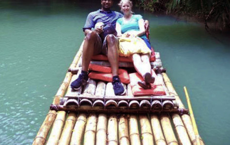Mrs. Bey and Mr. Bey on their river tour while visiting Jamaica. The person taking the photo was the tour guide that told them about the troubles in the social life of the Jamaican people.