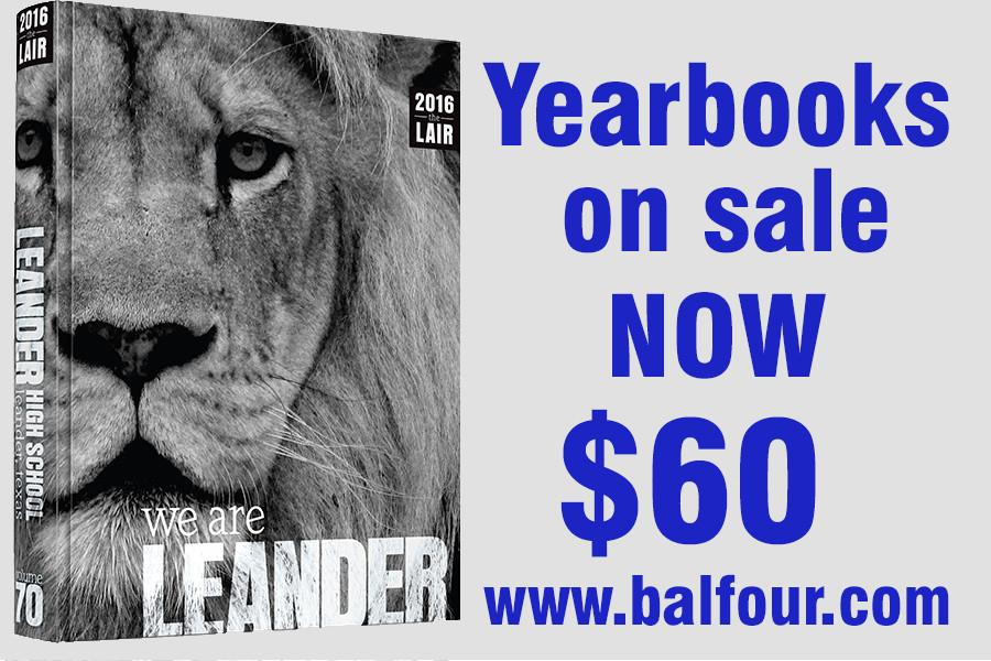 The+yearbook+is+on+sale+now+for+%2460.+After+October+31st+the+price+will+be+raised+to+%2465.