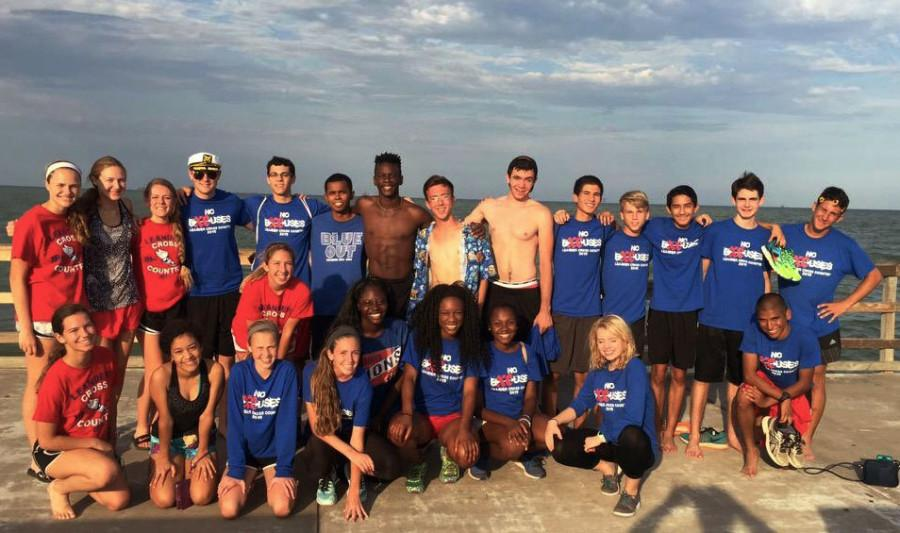 The Cross country team members who attended the Islander Splash competition.