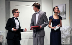 Juniors Patrick Wilbanks, Carter Wiseman and senior Annika Lowe. This is the first scene in which the two characters on the left, Glenn and Cassie, are introduced.