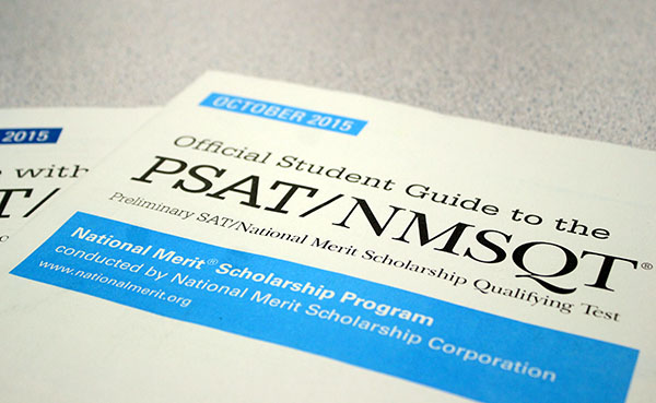 Two PSAT practice guides. The PSAT can help prepare juniors and everyone for the SATS so they can focus their studies on their weak testing areas.