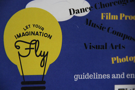 "The PTSA poster for the contest ""Let your Imagination Fly"". Last year"