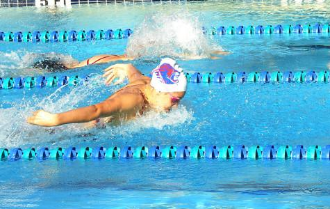 Swim team defeats Stony Point, loses to Cedar Park