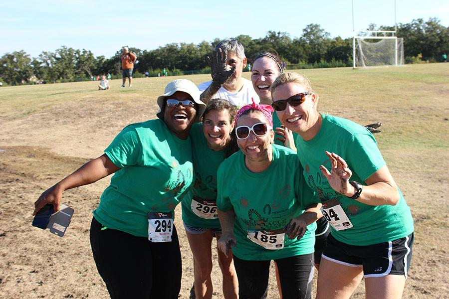 LHS Admin team participated in the mudstacle. The funds that were raised through the event will go towards distributing children's books to LISD families.