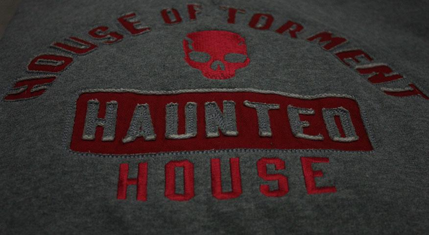 The House sells has t-shirts and hoodies available. House of Torment's BLACKOUT event is Nov. 13th and 14th.