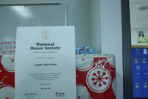 National Honor Society has been apart of Leander since 1971 and has been an annual participant for Operation Christmas Gift. Their certificate must be renewed every year.